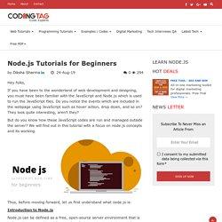 Node.js Tutorials for Beginners