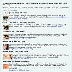 Tutorials zur Bildbearbeitung mit Gimp für Foto und Bild.
