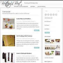 Craft tutorials, Etsy tips and spotlights