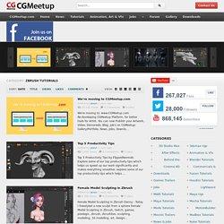 Zbrush Tutorials - CGMeetup : Community for CG & Digital Artists