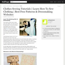 Best Free Patterns & Dressmaking Websites