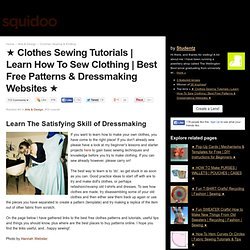 Best Free Patterns & Dressmaking Websites ★