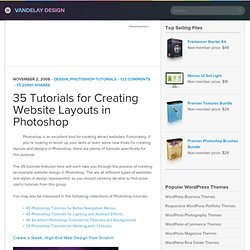 35 Tutorials for Creating Website Layouts in Photoshop | Vandela