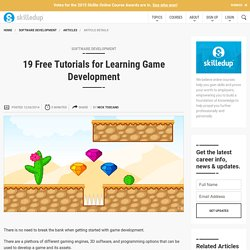 19 Free Tutorials for Learning Game Development