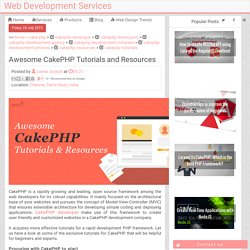 Awesome CakePHP Tutorials and Resources