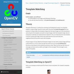 Template Matching — OpenCV-Python Tutorials 1 documentation