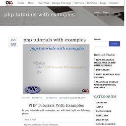php tutorials with examples