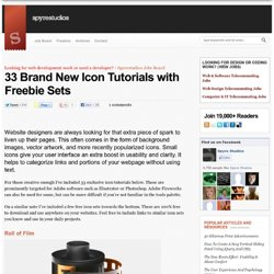 33 Brand New Icon Tutorials with Freebie Sets