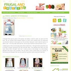 39 free apron tutorials | frugalandthriving.com.au