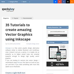 35 Tutorials to create amazing Vector Graphics using Inkscape