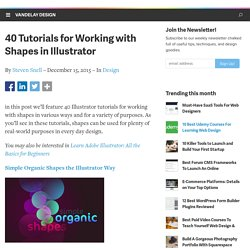 40 Tutorials for Working with Shapes in Illustrator | Vandelay Website Design