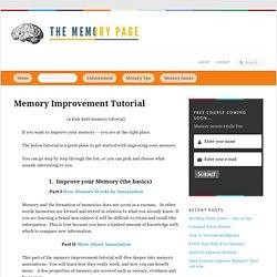 Tutorials: Begin Improving Your Memory