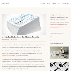 12 High Quality Business Card Design Tutorials « Business Card Gallery – CardDsgn.com