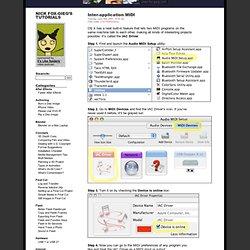 Nick Fox-Gieg's Tutorials » Inter-application MIDI