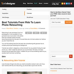Best Tutorials From Web To Learn Photo Retouching