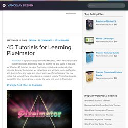 45 Tutorials for Learning Pixelmator