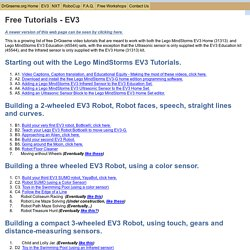 EV3-G tutorials for the Lego MindStorms Education and Home kits