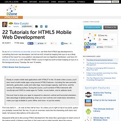 22 Tutorials for HTML5 Mobile Web Development