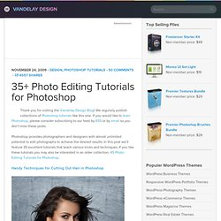 35+ Photo Editing Tutorials for Photoshop