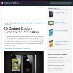 30 Gadget Design Tutorials for Photoshop