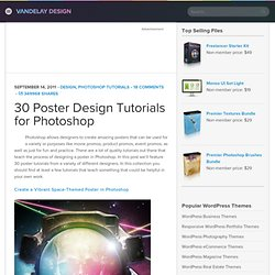 30 Poster Design Tutorials for Photoshop | Vandelay Design Blog - StumbleUpon