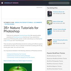 35+ Nature Tutorials for Photoshop