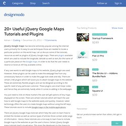 20+ Useful jQuery Google Maps Tutorials and Plugins