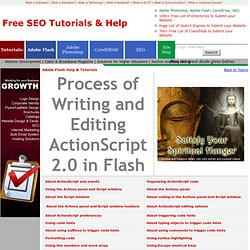 Adobe Flash help & tutorials - Process of Writing and Editing ActionScript 2.0 in Flash