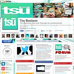 Tsu Business Tips and Tutorials for professionals