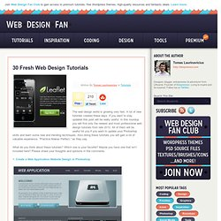 30 Fresh Web Design Tutorials