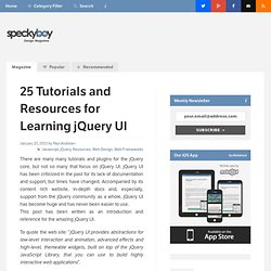 25 Tutorials and Resources for Learning jQuery UI