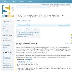HTML/Tutorials/Links/Seiteninterne Verweise