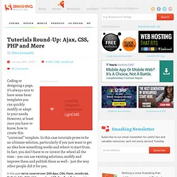 Tutorials Round-Up: Ajax, CSS, PHP and More
