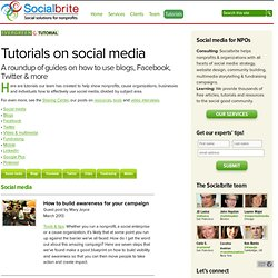 Tutorials on social media