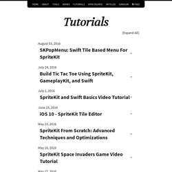 Tutorials – sprite-kit.com