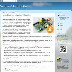 Tutorials & Technicalities: Compile Bitcoin Core on Raspberry Pi (Raspbian)