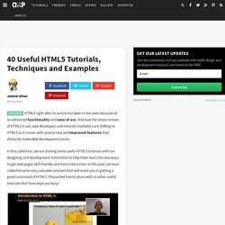40 Useful HTML5 Tutorials, Techniques and Examples