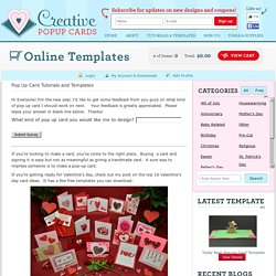Tutorials and templates | Creative Pop Up Cards