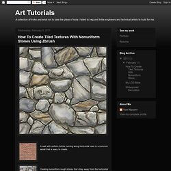 How To Create Tiled Textures With Nonuniform Stones Using Zbrush