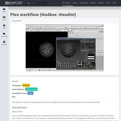 Ptex workflow (Mudbox -Houdini)