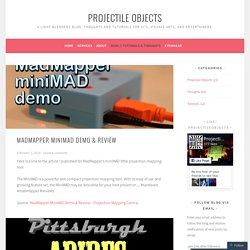 Blog - Projectile Objects (infrequently updated)