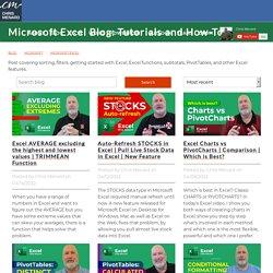 Tutorials and training articles on Microsoft Excel - Blog: Chris Menard Training