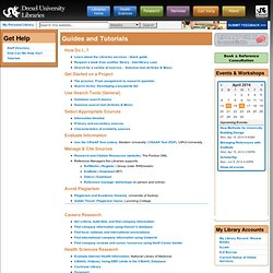 University Health Sciences Library Tutorials