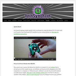 Welcome To Roninsynth.com