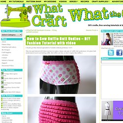 How to Make Ruffle Butt Undies – video tutorial