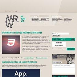20 tutoriaux CSS3 pour vous préparer au futur du web