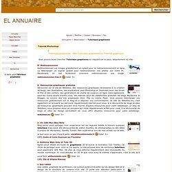 Tutoriaux graphisme - annuaire Tutoriaux graphisme - sites Tutorial graphique - web Tutorial graphique