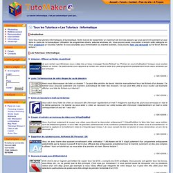 Tutoriaux Informatique