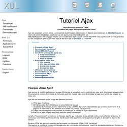 Tutoriel Ajax en exemples