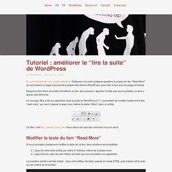 """Tutoriel : améliorer le """"lire la suite"""" de WordPress"""